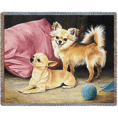 Throw Tapestry Afghan - Chihuahua Pair by Robert May 1142