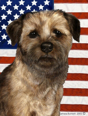 Garden Indoor/Outdoor Patriotic II Flag - Border Terrier 321221