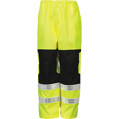 ML Kishigo Men's Class E High Visibility Rain Pants - Lime, S/M