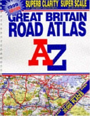 A-Z Super Scale Road Atlas of Great Britain Spiral bound Book The Cheap Fast