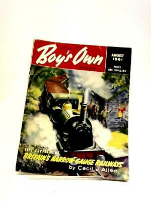 Boys Own Paper August 1961  Book (VARIOUS - 1961) (ID:34164)