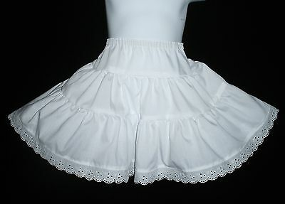 Toddlers Tiered Petticoat ~White w/ Lace Trim or Solid w/o Lace~Custom sz 1T-3T