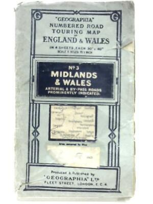 Geographia Numbered Road Touring Map No. 3, Midlands & Wales Book (ID:75412)