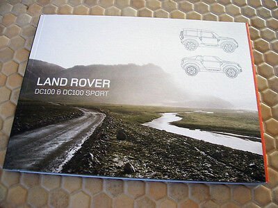 Land Rover Convertible Dc100 Dc100 Sport Prestige Brochure Data Dvd Book 2012