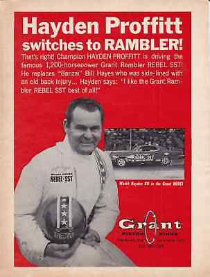 1967 grant rambler rebel sst great muscle car ad 695 1967 grant rambler rebel sst funny car hayden proffitt original print ad sciox Images