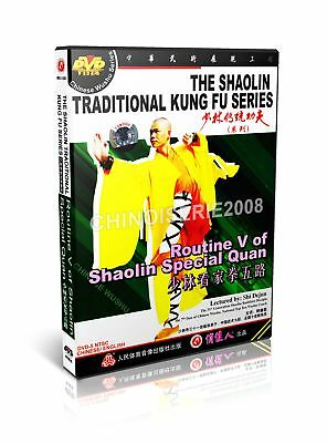 ShaoLin Traditional Kungfu Routine V of Shaolin Special Quan by Shi Dejun DVD