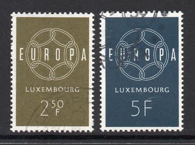 Luxembourg Used 1959 Sg659-660 Europa