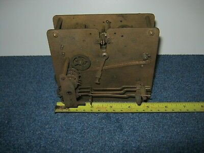 Vintage Brass Clock Movement--Spares/repair.