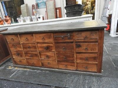 Wonderful Antique Large Counter To Shop From Shop Period 800 Drawers