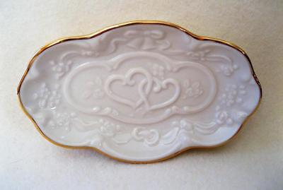 Lenox Wedding Promises Collection Jewelry Tray Fine Ivory China