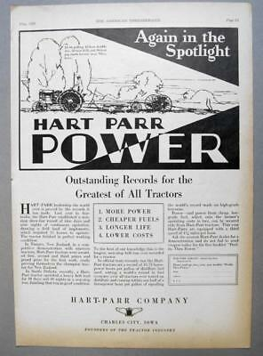 Origianl 1928 Rock Island Model F Tractor Ad MORE POWER WITH MUCH LESS WEIGHT
