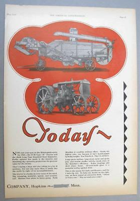 10x14 Original 1928 M-M 17-30 B Tractor Ad TODAY'S TRACTOR & THRESHER ENTRY