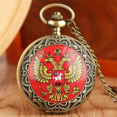 Retro Cross With Wings/Russian Double-headed Eagle/Riding Generals Pocket Watch