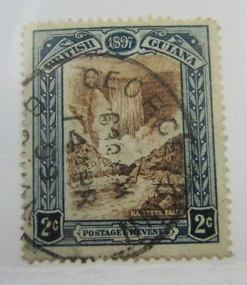 1899 British Guyana SC #153  Kaieteur Falls  Postage Revenue used stamp