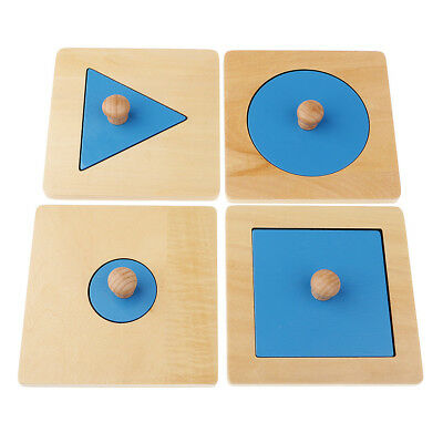 Kids Wooden Geometry Educational Toys Puzzle Montessori Early Learning #9