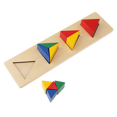 Kids Wooden Geometry Educational Toys Puzzle Montessori Early Learning #3