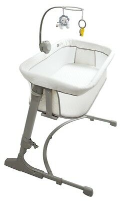 Arm's Reach Versatile Adjustable Infant Baby Co-Sleeper Bedside Bassinet Ivory