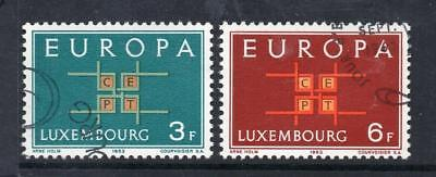 Luxembourg Used 1963 Sg730-731 Europa