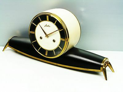 A Dream In Black  Later Art Deco  Junghans  Chiming Mantel Clock From 50´S