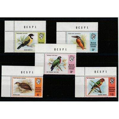 British Solomon Islands 1975 Final Birds 5 V Mnh Mf5114