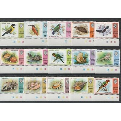 British Solomon Islands 1976 Final Birds 15 V Mnh Mf53562