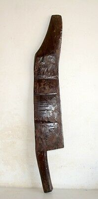 1890's Antique Old  Wooden Hand Carved Wall Decorative Beautiful Sword Dagger