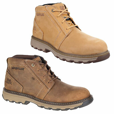 Mens Caterpillar Parker Chukka Safety Steel Toe/Midsole Work Boots Sizes 6 to 12
