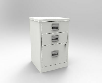 Bisley A4 3 Drawer Metal Stationery and Filing Cabinet