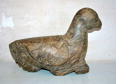 1800's Antique Old Wooden Hand Carved Decorative Swan Figure