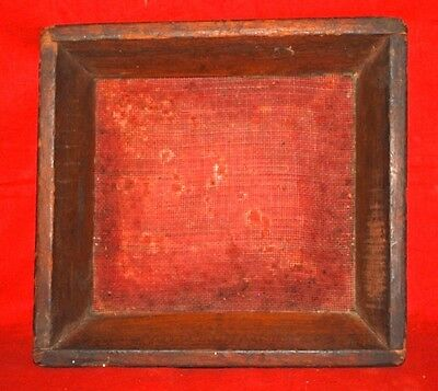 Antique Old Iron Wood Hand Crafted  Collectible  Wheat Flour Refine Sieve