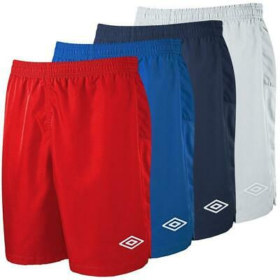 Umbro Boy's Continental Football Shorts Soccer Kit Sport Casual Fashion Red Blue