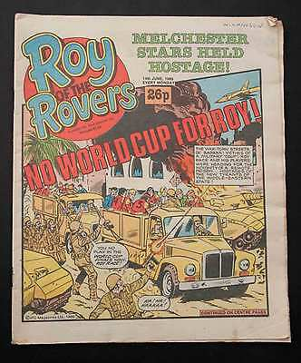 ROY OF THE ROVERS - 14th Jun 1986 - Vintage Football Comic - Retro 30th Gift