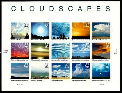 2004 - CLOUDSCAPES - #3878 Full Mint -MNH- Sheet of 20 Postage Stamps