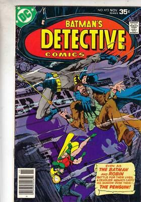 Detective Comics  # 473  strict  VF  appearance  The Penguin!