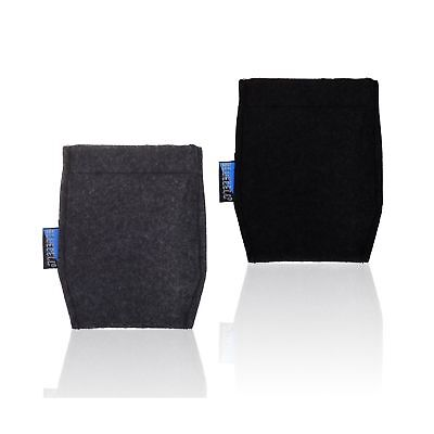 BCP 2-Piece Pocket Square Card Holder for Mans Suits (Black and Dark Gray Col...