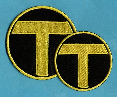 Teen Titans Terra Symbol Embroidered Iron-On Patch: Choice of Sizes