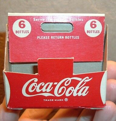 1950's Coca Cola Soda Pop Miniature Bills Milwaukee Coke Mini Bottle Carton NICE
