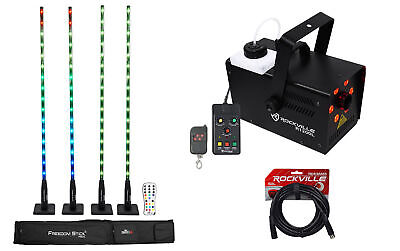 Chauvet DJ FREEDOM STICK PACK w/ (4) DMX Light Array Fixtures+LED Fog Machine