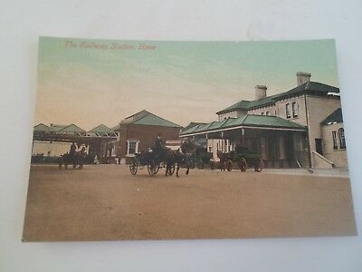 SUSSEX, Hove, The Railway Station, Good Vintage Colour Tinted Postcard    §A1829