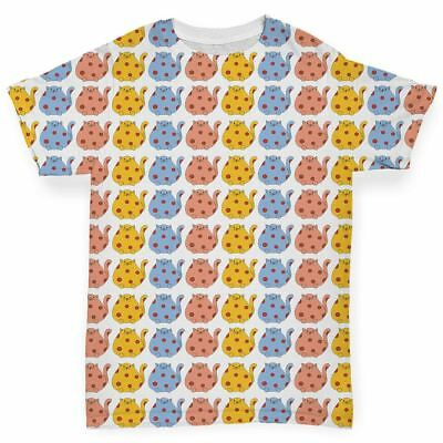 All Over Print Baby T-shirt Spotted Cats Baby Toddler Baby T-shirt