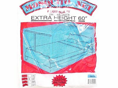 White Mosquito Net Bed Canopy Four Post Queen Mesh Netting Hardware Included
