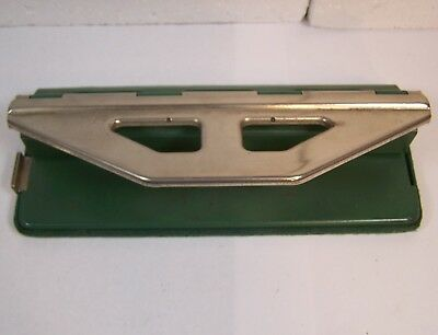 """vintage PAPER PUNCH adjustable HEAVY DUTY THREE 3 or FOUR 4 HOLE 8 1/2"""""""