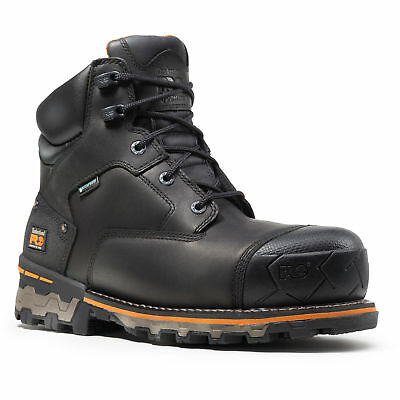 Timberland Boondock Black Leather Composite Toe Waterproof Work Boot TB0A1FZP001
