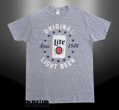 a247e8b653 NEW MILLER LITE Brewing Beer Mens Retro Vintage T-Shirt -  18.95 ...