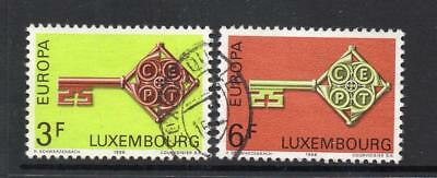 Luxembourg Used 1968 Sg821-822 Europa