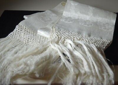 Italian Show Towels Nwt - Vintage Linen Damask - Spectacular !! Tt472