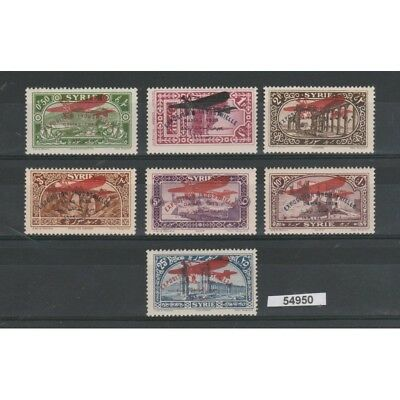 1929 Syria Syrie Exhibition Covers Industrielle 7 V Mnh Yv N 43/49 Mf54950