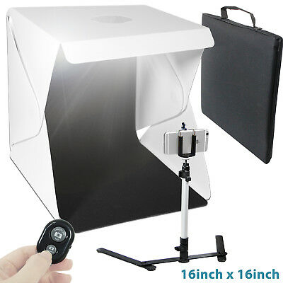 Lusana Studio 16  Cube LED Shooting Tent Box Kit Light Stands u0026 Bluetooth Remote  sc 1 st  PicClick : shooting tent - memphite.com