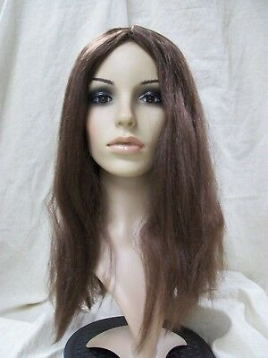 Brown Parted Wig Shaggy Hippie 60s Rocker Unisex Biblical Jesus Mary 70s Janis