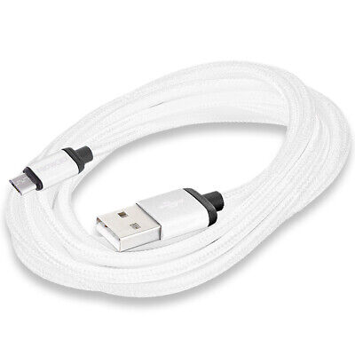 PROWORX White 10ft Long USB Charger Cable for Sony Playstation 4 PS4 Controller